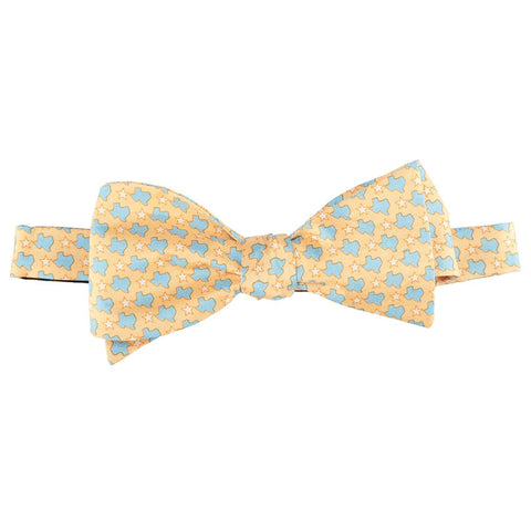 States & Stars Bow Tie - Yellow