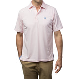 Ace Polo - Pink/White Micro Stripe