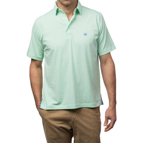 Ace Polo - Spring/White Micro Stripe