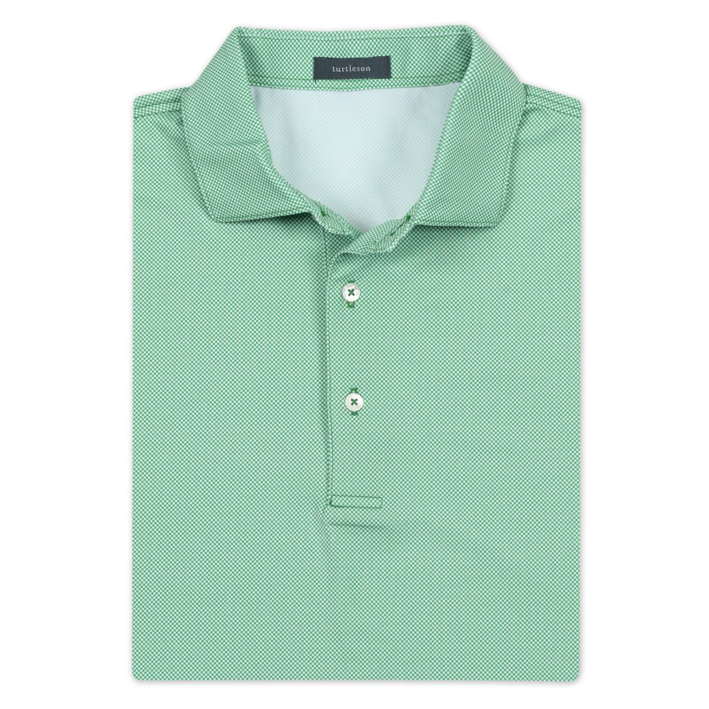 Beckett Check Performance Polo Watermelon