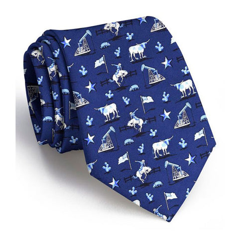Lone Star State Tie - Navy