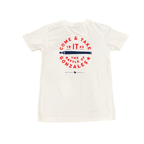 Youth Come & Take It Pocket T-Shirt - White