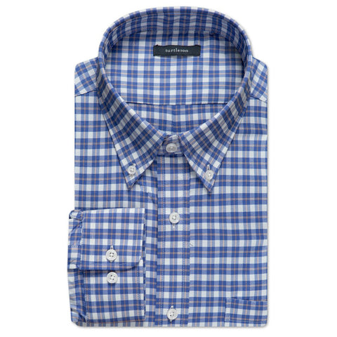 Bradlee Plaid Performance Buttondown Shirt - Marine