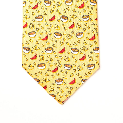 Chips & Queso Tie - Yellow