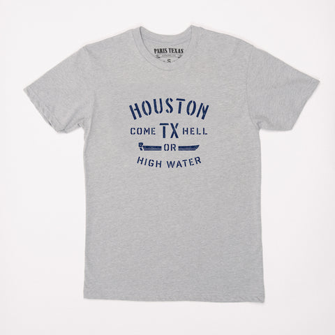 Come Hell or High Water: Hurricane Harvey Relief T-Shirt - Heather Gray