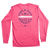 Come and Take It Long-Sleeve Pocket T-Shirt - Brick