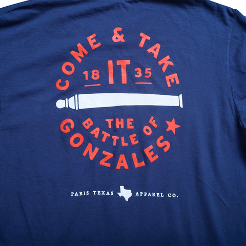 Come and Take It Pocket T-Shirt - Navy