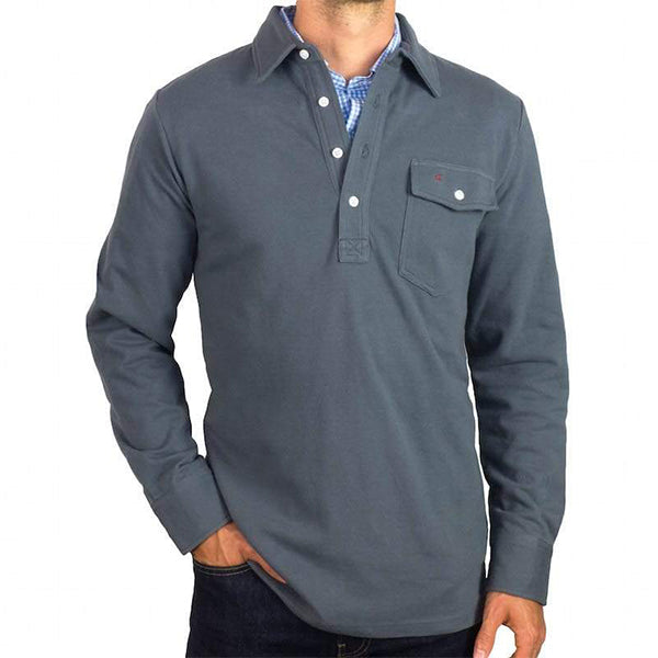 Criquet_Blue_Steel_Long_Sleeve_Players_Shirt