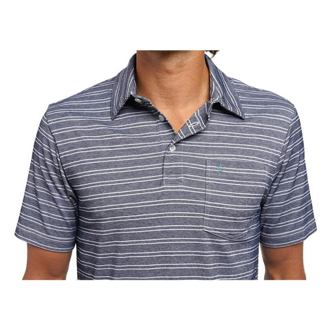 Performance Pique Ace Classic Stripe - Navy