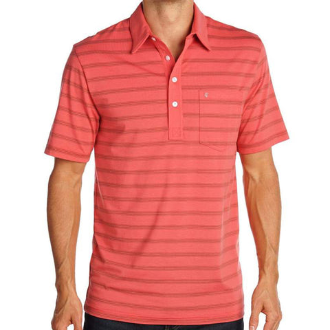 Vance Stripe Performance Shirt - Red