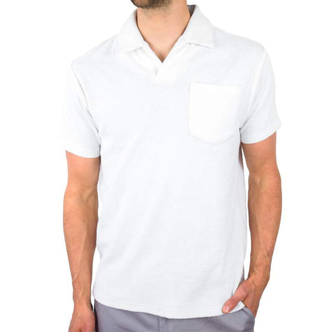 White Terrycloth Polo