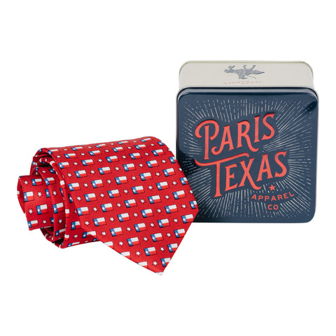 Lone Star Flag Tie - Apple Red