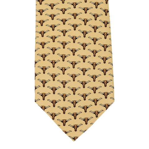 Texas Longhorn Tie - Yellow
