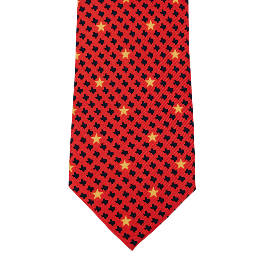 Stars over Texas Tie - Red