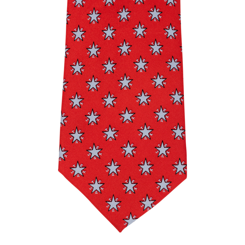 Zavala Flag Tie - Red