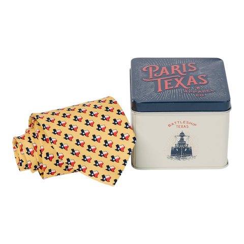 Lone Star State Tie - Yellow
