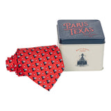 Waving Texas Flag Tie - Red