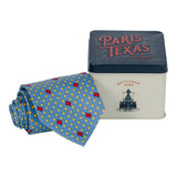 States & Stars Tie - Dusty Blue