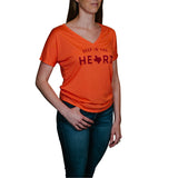 Deep in the Heart Women's V-Neck T-Shirt - Coral