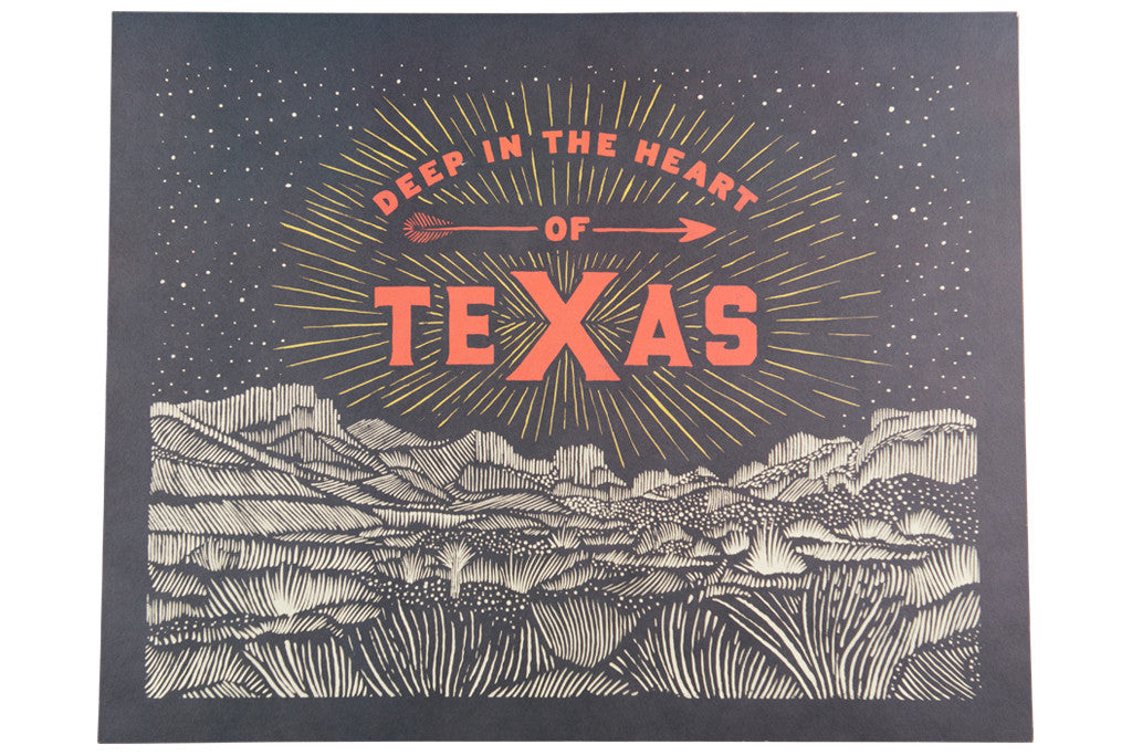 Deep In The Heart Of Texas Print