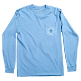 Don't Tread on Me Long-Sleeve Pocket T-Shirt - Ice Blue