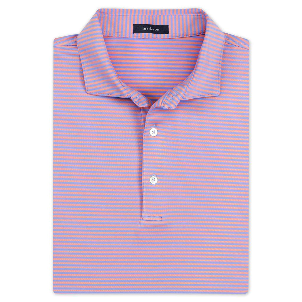 Edward Stripe Performance Shirt - Orchid/Sky