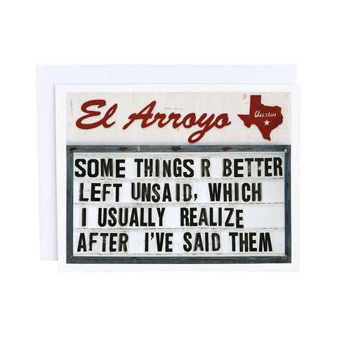 El Arroyo Card - Can't Text Your Ex