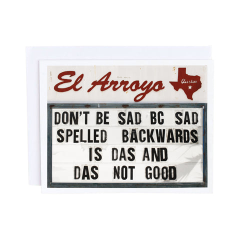 El Arroyo Card - Story of My Life
