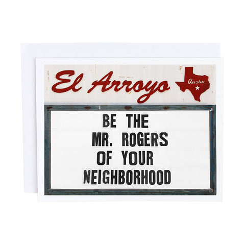 El Arroyo Card - Chins Up