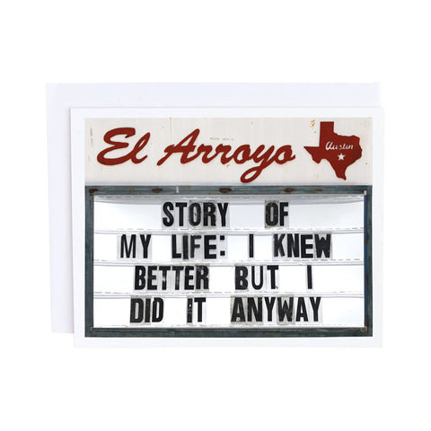 El Arroyo Card - Tacos Fall Apart