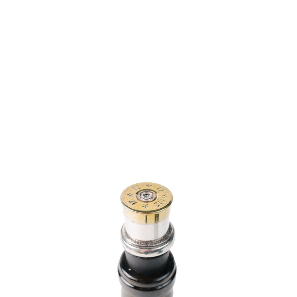 English Pewter Shotgun Cartridge Bottle Stopper