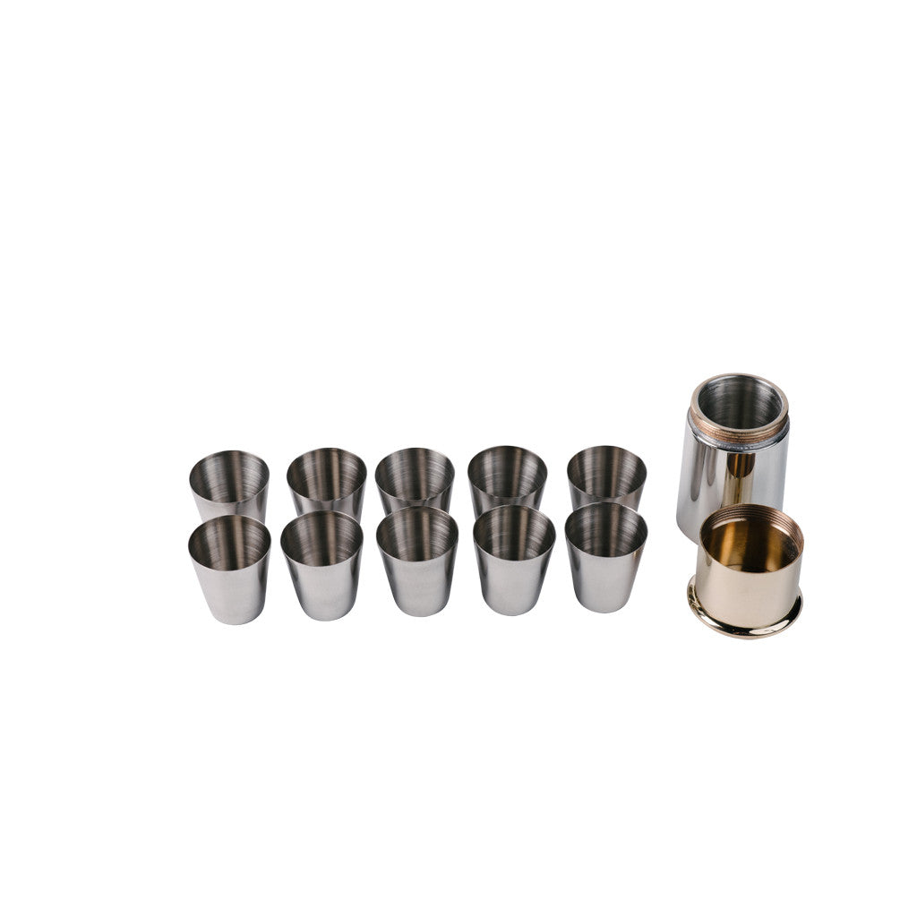 English Pewter Shotgun Cartridge Travel Cup Set