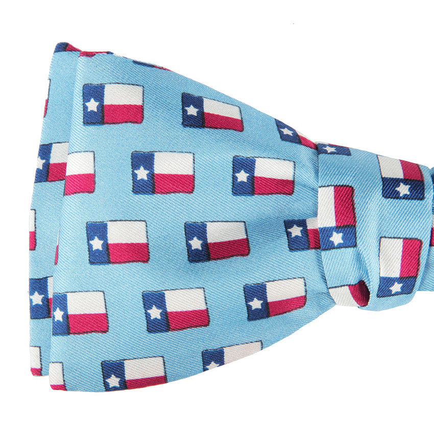 Lone Star Flag Bow Tie - Light Blue