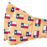 Lone Star Flag Bow Tie - Yellow