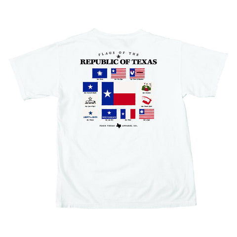 Flags of the Republic Pocket T-Shirt - White