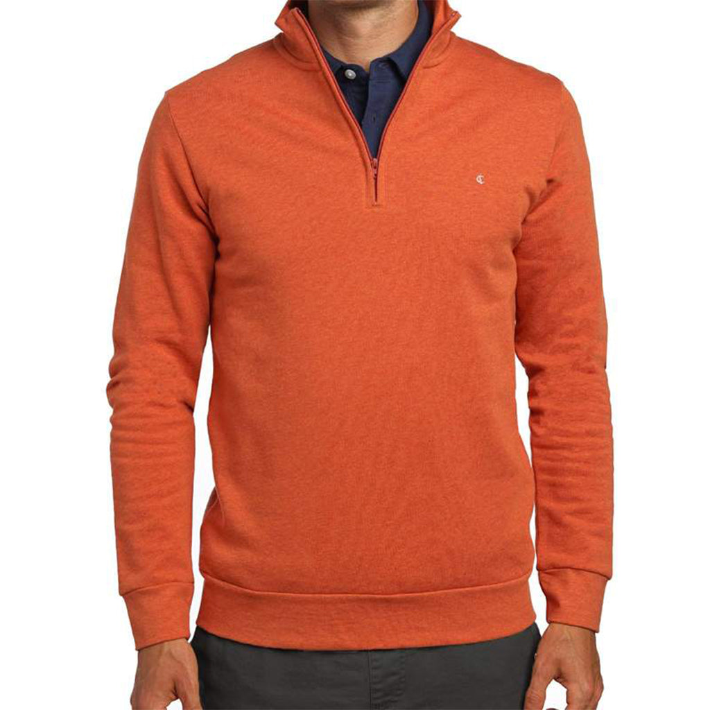 Fleece Pullover Burnt Orange