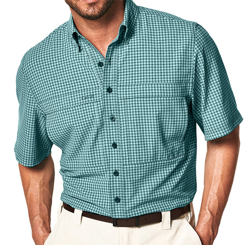 GameGuard TekCheck Short Sleeve Shirt - Sea Glass