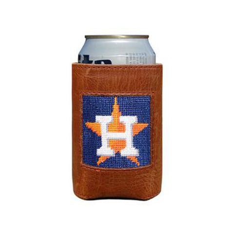 Houston Astros Needlepoint Can Cooler