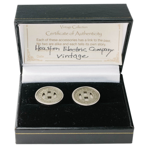 Houston Transit Token Cufflinks