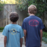 Boys Texas Anglers Authority T-Shirt - Navy