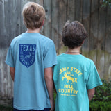 Boys Hill Country Hunting Camp T-Shirt - Seafoam