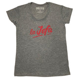 La Jefa Women's Jersey T-Shirt Warm Gray