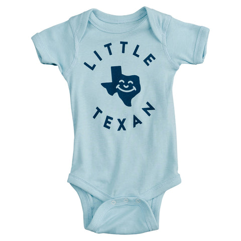 Little Texan Onesie - Light Blue