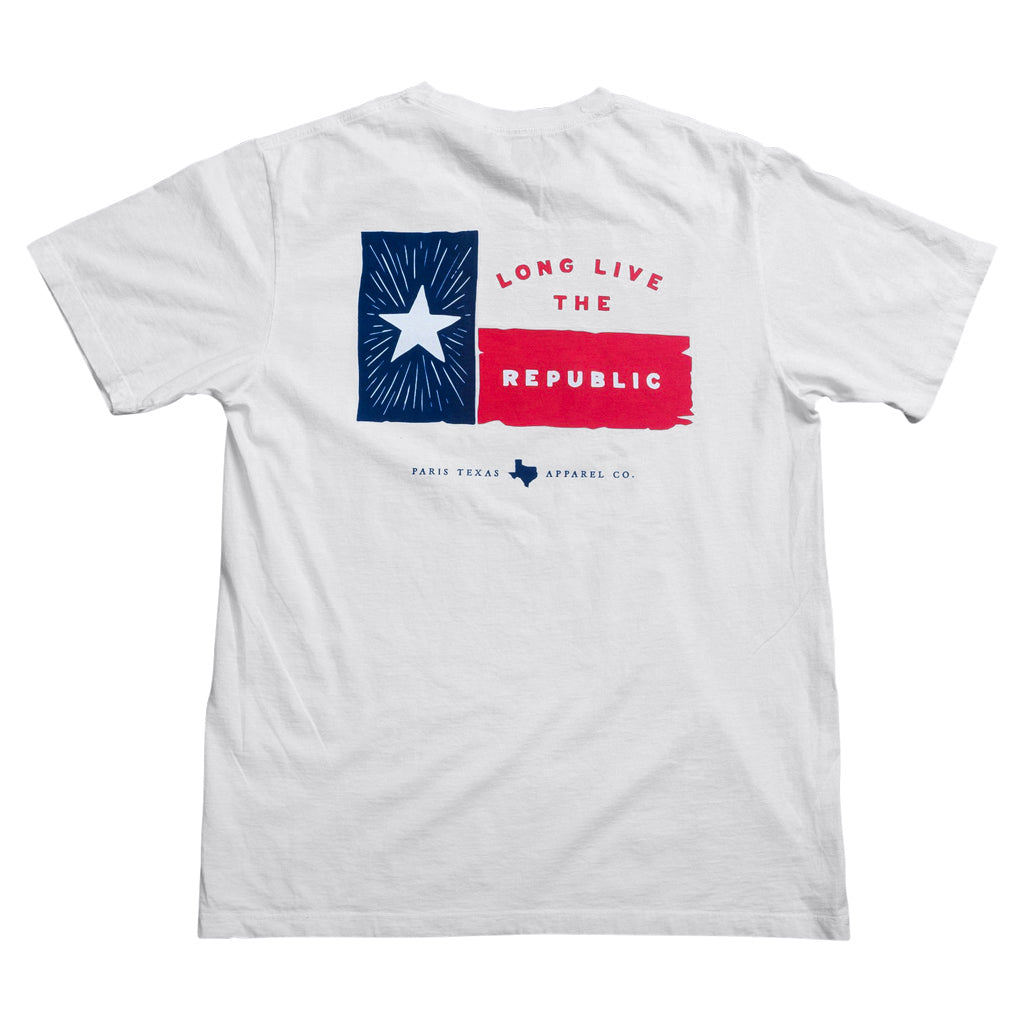 Lone Star Flag Pocket T-Shirt - White