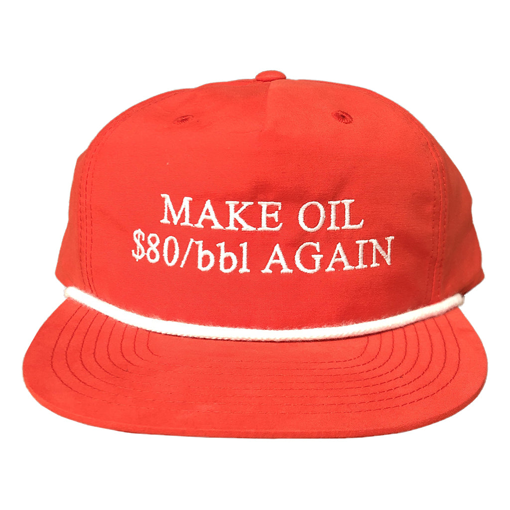 Make Oil $80/bbl Again Camp Hat Navy