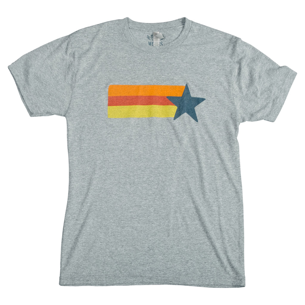 Retro Astros T-Shirt - Heather Grey