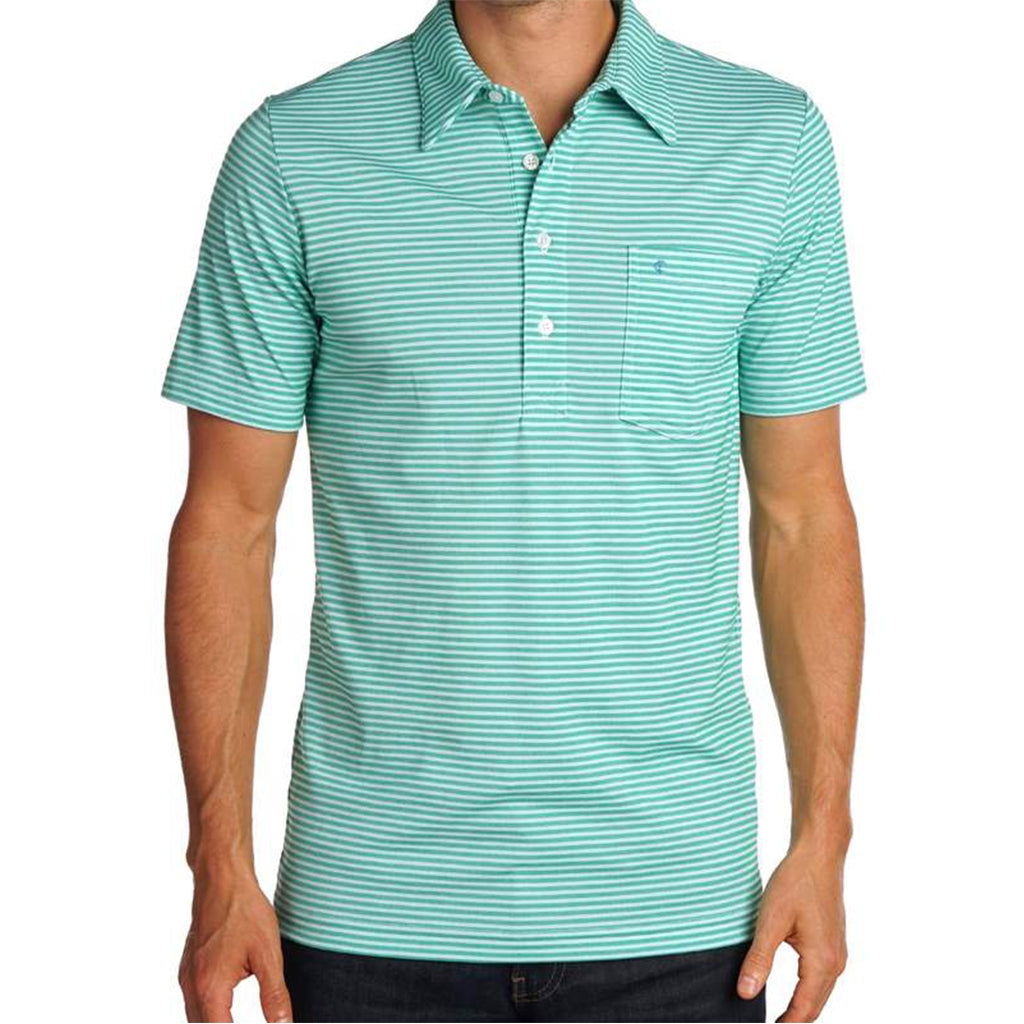Nelson Stripe Stretch Players Shirt - Green