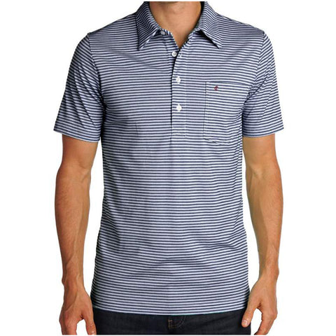 Nelson Stripe Stretch Players Shirt - Navy