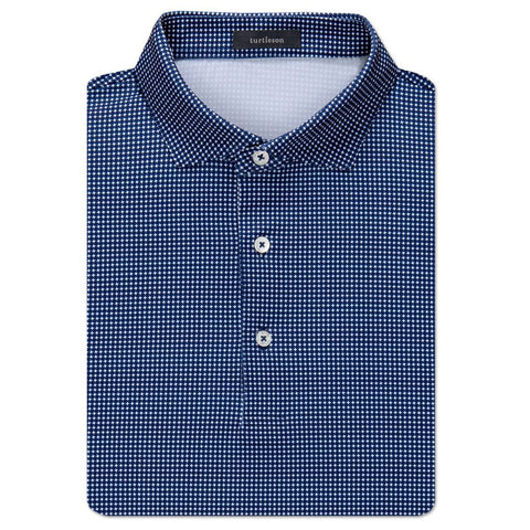 Nicholas Houndstooth Performance Polo