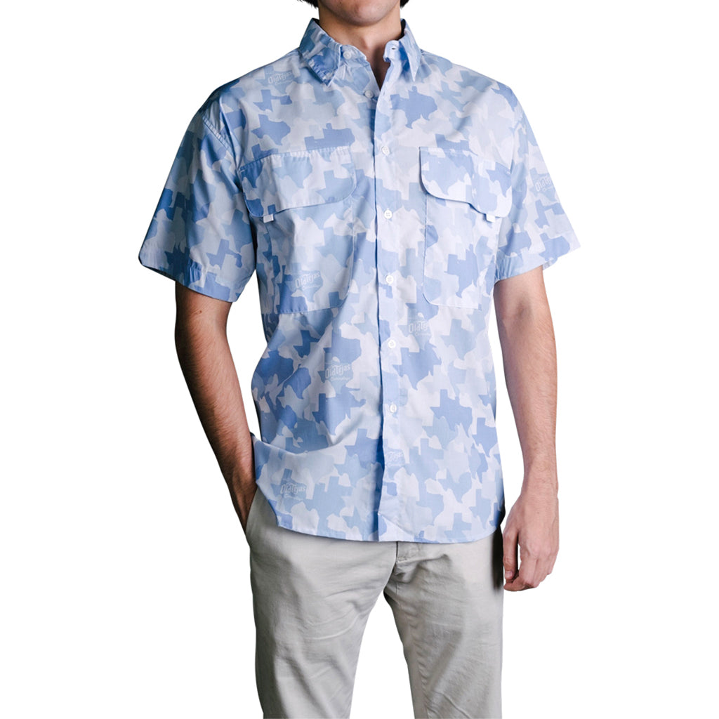 Old Tejas Camo Field Shirt - Blue